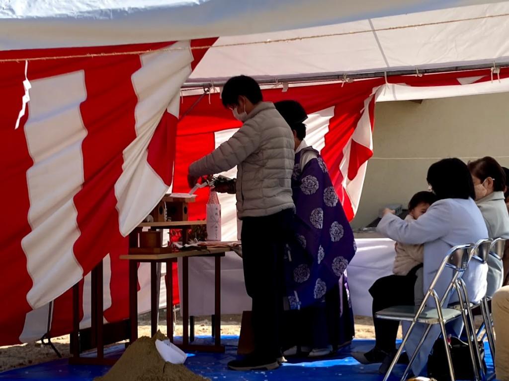 神戸市須磨区 M様邸新築工事地鎮祭